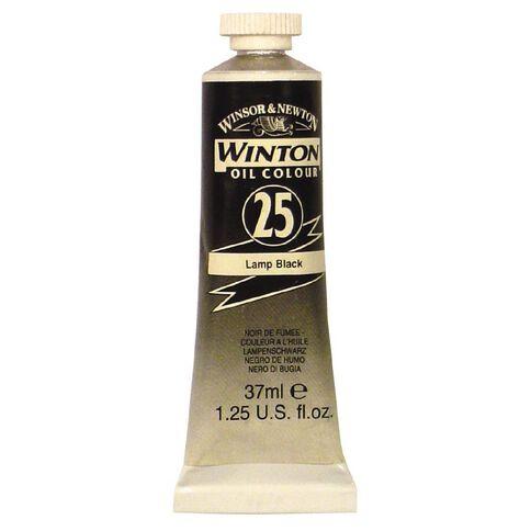 Winton Oil Paint 37ml Lamp Black