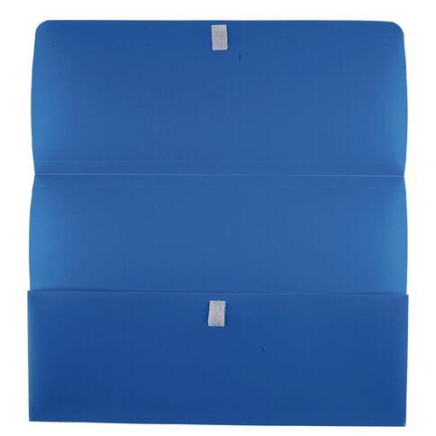 Marbig Polypick Wallet Hook And Loop Blue A4