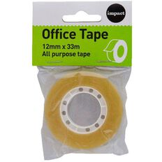 Impact Office Tape 12mm x 33m Small Core Clear