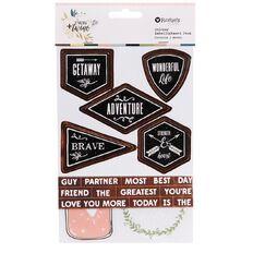 Rosie's Studio Twig & Twine Layered Sticker Pack 3 Sheet Multi-Coloured