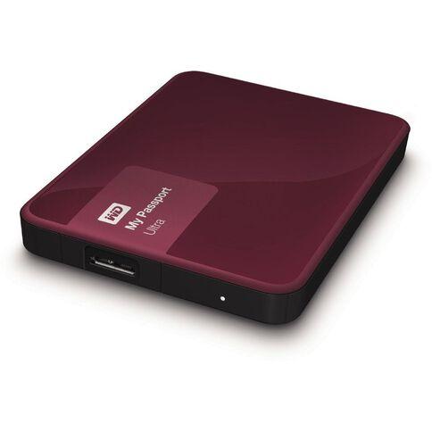 Wd My Passport Ultra 2Tb Hard Drive Red Red