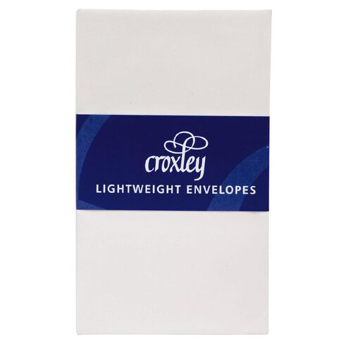 Croxley Envelope Light Weight Size 1 20 Pack White