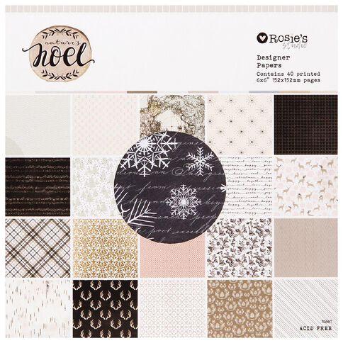 Rosie's Studio Nature's Noel Designer Paper Pad 6in x 6in 40 Sheet
