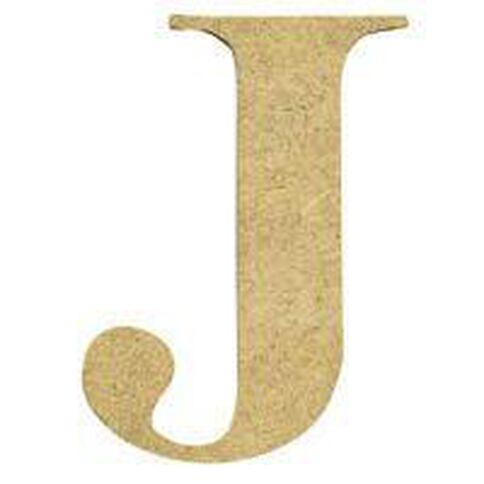 Sullivans Mdf Board Alphabet Letter 17cm J Brown