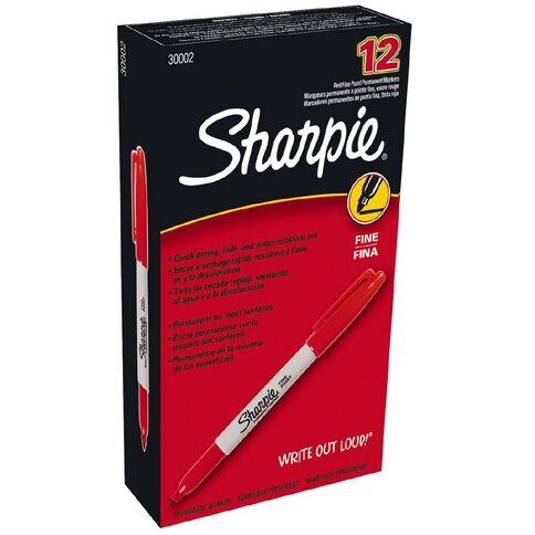 Sharpie Marker Fine 12 Pack Red