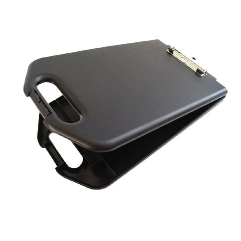 GBP Stationery Storage Clipboard With Handle Black A4