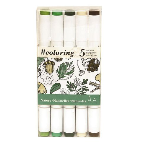 Colouring Marker Nature 5 Pack