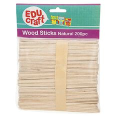 Educraft Popsicle Sticks Plain 200 Pieces