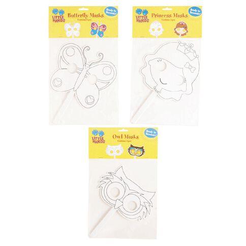 Little Hands Diecut Cardboard Masks with Sticks Assorted 4 Pack