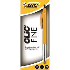 Bic Clic Fine 10 Pack Black