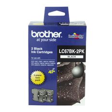 Brother Ink Cartridge LC67 2 Pack Black
