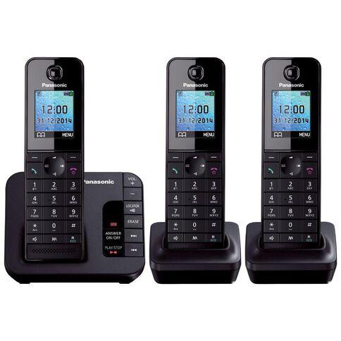 Panasonic Kx-Tgh223Azb Triple Cordless Phone Black