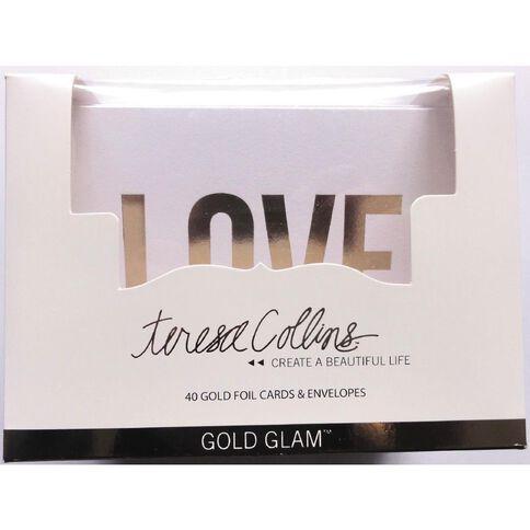 Teresa Collins Glam Cards & Envelopes Design 40 Pack Gold