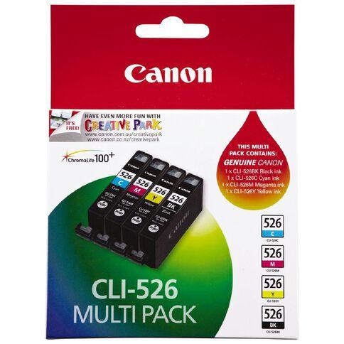 Canon Ink Cartridge CLI526 4 Pack Multi-Coloured