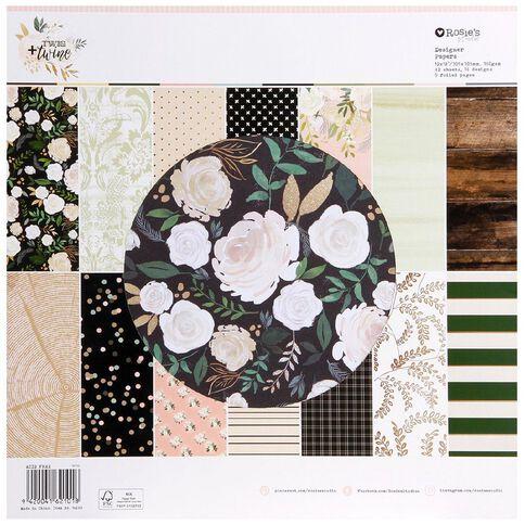 Rosie's Studio Twig & Twine 12in x 12in Designer Paper Pad 42 Sheet