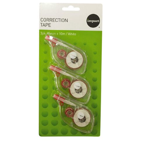 Impact Correction Tape 5mm x 10m 3 Pack White