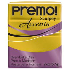 Sculpey Premo Accent Clay 57g Antique Gold