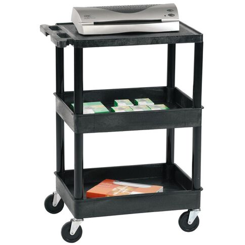 Tuffy Trolley Tub 1 Flat & 2 Tubs Black