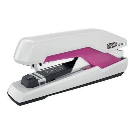 Rapid Stapler So60 Omnipress 60 Sheet Fullstrip White/Pink