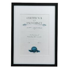 Certificate Frame A3 Brushed Black