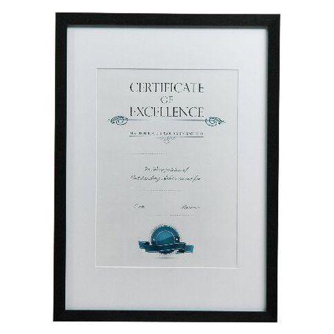 Certificate Frame A3 Brushed Black