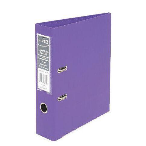 ColourHide Linen Lever Arch File Fc Purple