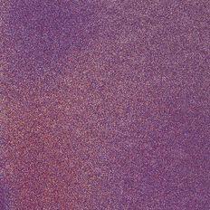 American Crafts Cardstock Glitter Medium 12 x 12 Neon Purple