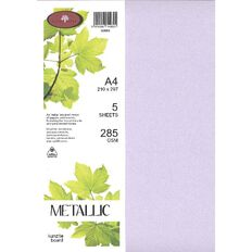Metallic Board 285gsm 5 Pack Kunzite A4