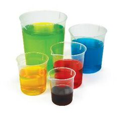 TFC Beaker Set Of 5 Clear