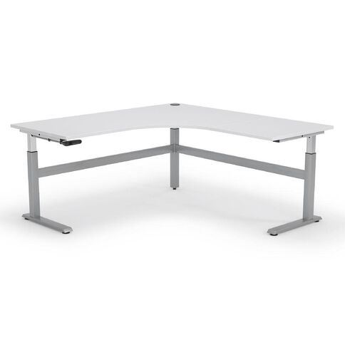 Cubit Height Adjustable Workstation 1500 White/Silver