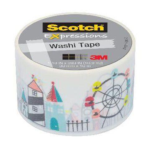 Scotch Washi Craft Tape 30mm x 10m Carnival