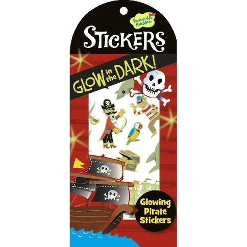 Peaceable Kingdom Stickers Glow In The Dark Pirate