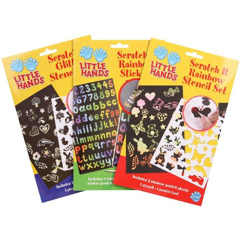 Little Hands Scratch It Set Assorted Multi-Coloured