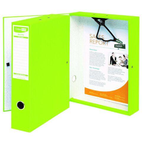 ColourHide Foolscap Linen Box File Green
