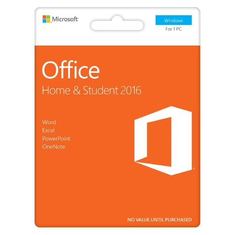 Microsoft Office Home & Student 2016 Activation Card