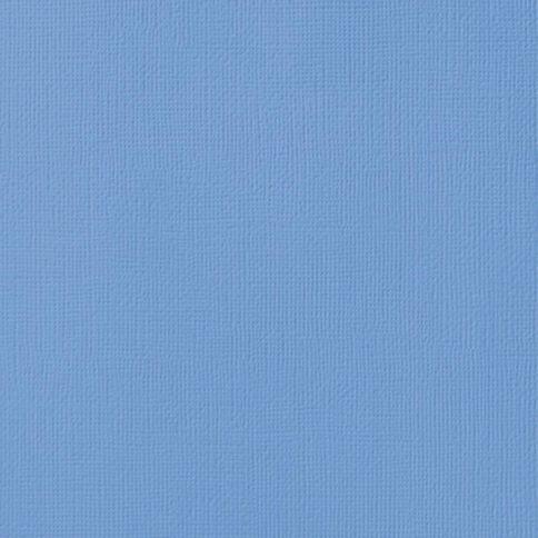 American Crafts Cardstock Textured 12 x 12 Ocean Blue