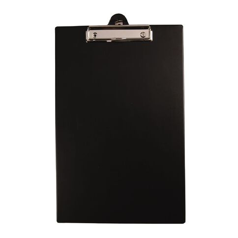 GBP Stationery Foolscap PVC Single Clipboard Black