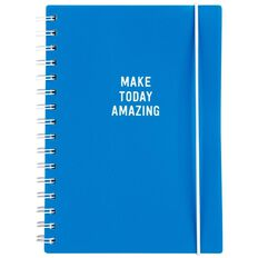 Paper Lane PP Wire Spiral Notebook 100 Leaves Blue A5
