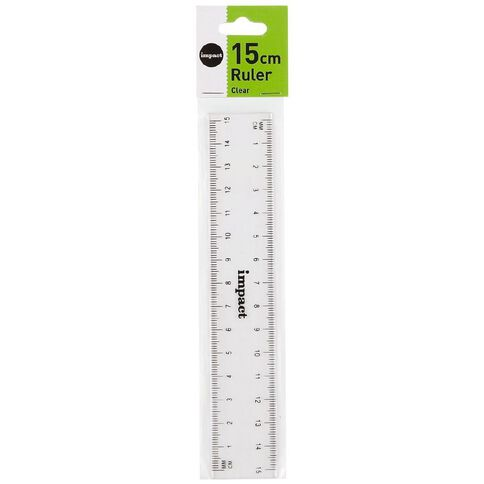 Impact Ruler 15cm Clear