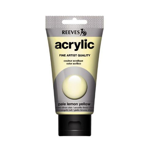 Reeves Acrylic Paint 75Ml Pale Yellow