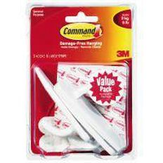 Command Adhesive Large Hooks Vp 3 Pack 17003