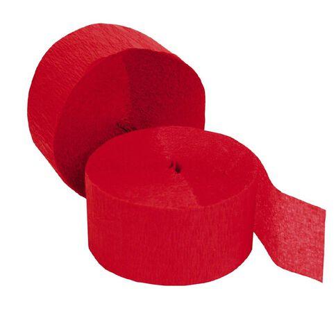 Meteor Streamers 24.6m x 4.45cm 2 Rolls Red