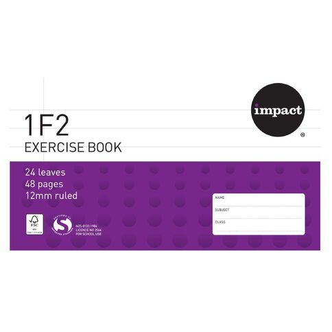 Impact Exercise Book 1F2 12mm 24 Leaf