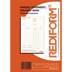 Rediform Invoice/Delivery Book Duplicate 50 Sets Red A5