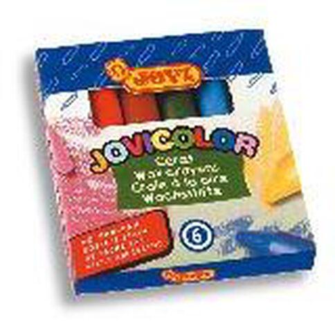 Jovi Wax Crayon 6 Pack Multi-Coloured