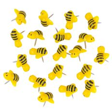 Kookie Bumble Bee Push Pins 20 Pack