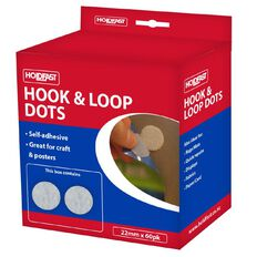 Holdfast Fastgrip Hook & Loop Dots 22mm 60 Pack White