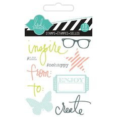 Heidi Swapp Stamps Small Inspire Clear