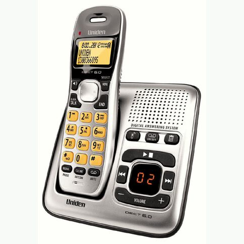Uniden DECT 1735 Cordless Phone with Answer Machine Silver