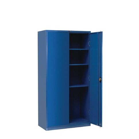 Workspace Cupboard Large Metal 4 Shelves Midnight Blue